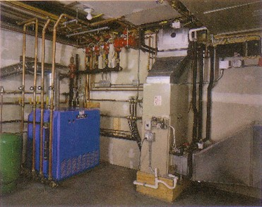 Equipment included a Trane CGA 10 ton chiller and a Buderus G334 boiler.